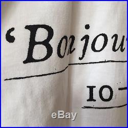 SUPREME SS16 Paris'Bonjour Madame' Box Logo Tee White XL XLarge NEW