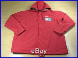SUPREME STADIUM COACHES JACKET FUR LINING With HOODIE FW 2009 RED BOX LOGO NEW XL
