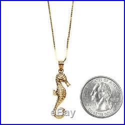 SUPREME Seahorse Gold Pendant 14K box logo camp cap tnf cdg S/S 16