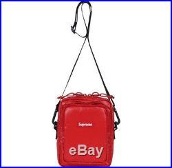 SUPREME Shoulder Bag Black White Red box logo camp cap tnf cordura F/W 17