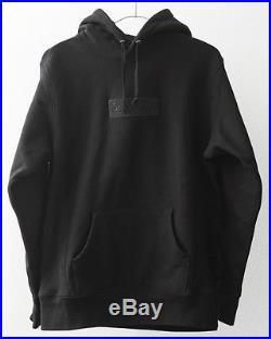 SUPREME TONAL BOX LOGO HOODIE BLACK (LARGE) FW14