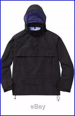 SUPREME Taped Seam Pullover Jacket Black M box logo camp cap tnf F/W 15