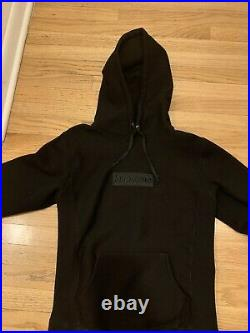 SUPREME Tonal Box Logo Pullover Hoodie BLACK size Small Pre Owned