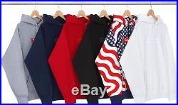 SUPREME USA FLAG BOX LOGO PULLOVER HOODIE Sz M Medium PCL Black CDG 2014 F/W