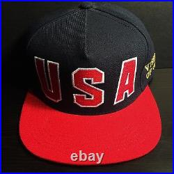 SUPREME USA VISIONS OF GOLD 5 PANEL CAP snapback HAT box logo olympics vintage