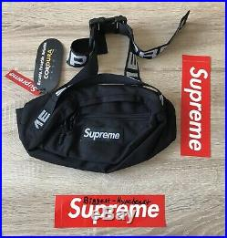 SUPREME Waist Bag Black Bauchtasche Box Logo Tasche White Backpack off Shirt Bum