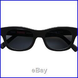 SUPREME Wallace Sunglasses Black camp cap Box Logo safari S/S 13