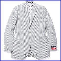 SUPREME x Brooks Brothers Seersucker Suit 38 Seersucker box logo camp cap S/S 14