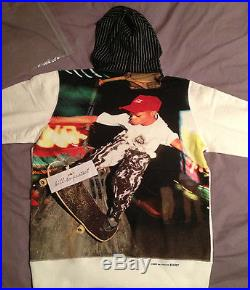 SUPREME x COMME DES GARCONS CDG Red BOX LOGO Hoody Large L PCL Pullover 2014