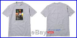 SUPREME x COMME DES GARCONS CDG Tee Grey Sz M L XL T-Shirt Box Logo 20th 2014