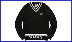 SUPREME x Lacoste Tennis Sweater Black White M S Box logo camp cap tnf lv S/S 17