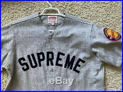 SUPREME x MITCHELL AND NESS JERSEY 2006 SZ L GRAY 42 box logo tee shirt hoodie