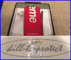 SUPREME x MOPHIE POWER RESERVE BATTERY For Iphone Keychain Charger Box Logo 2015