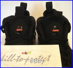SUPREME x NIKE AIR FOAMPOSITE Black Sz US13 UK12 Box Logo 652792-001 SP 2014 QS