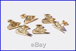 SUPREME x Nike 14K Gold Earring swoosh box logo camp cap F/W 18