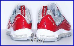 SUPREME x Nike Air Max 98 Red 10.5 box logo camp cap tnf snake S/S 16
