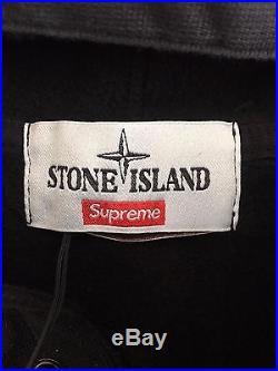 SUPREME x STONE ISLAND 2014 100% AUTHENTIC PULLOVER M CAP BOX LOGO CREWNECK TEE