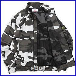 SUPREME x Stone Island Nylon Metal Track Jacket Snow Camo M box logo camp S/S 16