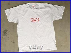 S/S Supreme Japan Relief Box Logo Tee White 2011 Brooklyn T-shirt size Medium
