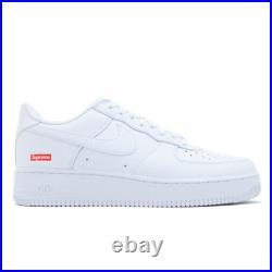 Size 10.5 Nike Air Force 1 Low x Supreme Box Logo White 2020