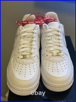 Size 9 Nike Air Force 1 Low x Supreme Box Logo White 2020