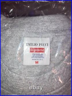 Size M NEW Supreme Box Logo Emilio Pucci Heather Grey/Blue