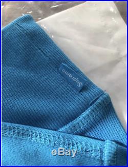 Small Supreme Box Logo Crewneck (FW18) Bright Royal Blue S