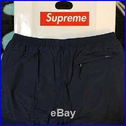 Ss18 Supreme Warm Up Pant (navy) (large) Box Logo Tee Bogo Crewneck Water Short