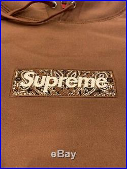 Suprem Bandana Box Logo Hooded Color Black Hoodie Size M, L, XL