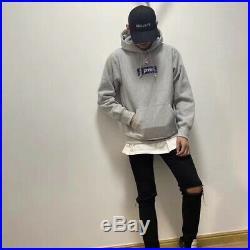 Suprem Bandana Box Logo Hooded Size L Color Gray Hoodie