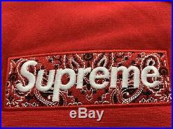 Suprem Bandana Box Logo Hooded Size L Red Hoodie