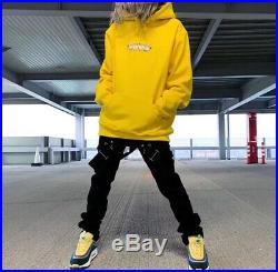 Suprem Bandana Box Logo Hooded Size M Color Yellow Hoodie