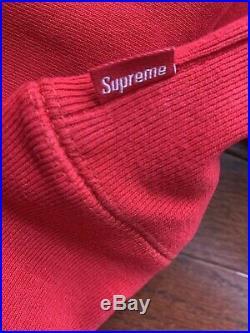 Suprem Bandana Box Logo Hooded Size XL Red Hoodie