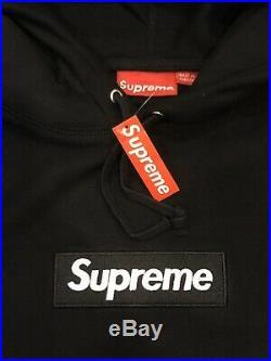 Suprem Box Logo Hooded Color Black Hoodie Size M