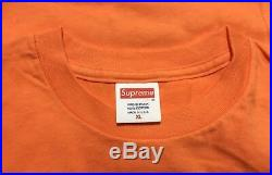 Supreme 12SS Kate Moss Photo Tee XL Orange Rare XLarge Ready To Ship Box Logo