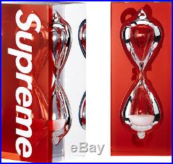 Supreme 15 S/s Box Logo Glass Sand Timer Red Accessories Cdg Tee Time Hourglass
