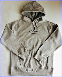 Supreme 15ss Classic CDG Box Logo Pullover Hoodie Sweatshirt Gray Medium