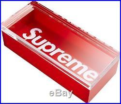 Supreme 16 F/w Box Logo Acrylic Lucite Box Red Classic Cdg Tee Accessories Tnf
