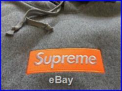 Supreme 17FW Gray Box Logo hoodie Size Large