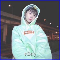 Supreme 17FW LIME Box Logo hoodie Size M