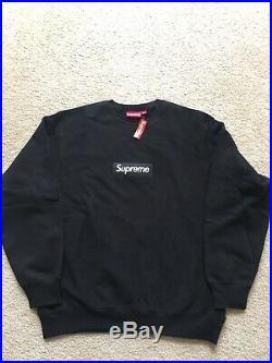 Supreme 18FW Black Box Logo crewneck Size X-Large