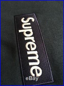 Supreme 18FW Navy Box Logo crewneck Size Large