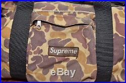 Supreme 2005 Duck Camo Duffle Bag Box Logo Shoulder Gym Zebra Green Brown Waist