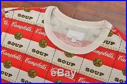 Supreme 2012 Andy Warhol Campbell Soup Tee Box Logo Medium M Comme Des Garcons
