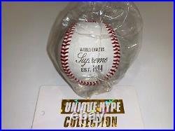Supreme 2012 S/s Rawlings Baseball Box Logo Ball World Famous Mlb White