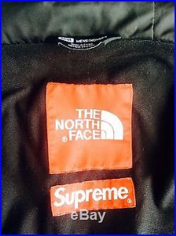 Supreme 2014 F/W Box Logo North Face Bandana Mountain Parka Jacket- Black-Medium