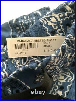 Supreme 2015 S/s Banadana Belted Short Paisley Box Logo Blue Small Bandana
