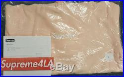 Supreme 2016F/W Box Logo Hoodie Peach Size L, XL 1000% Authentic