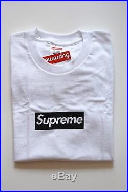 Supreme 2016 Paris Box Logo Tee Shirt Size Medium