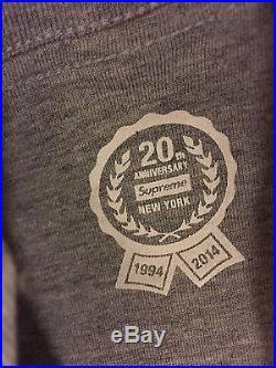 Supreme 20th Anniversary Grey Box Logo Shirt Brand New Authentic